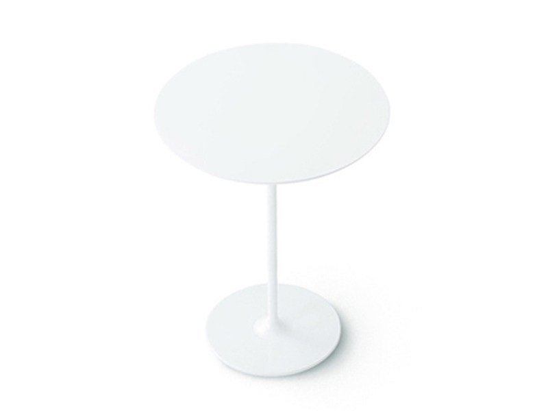 Round high side table