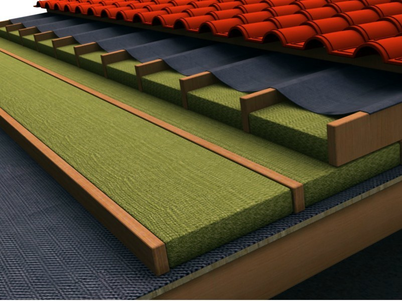 Thermal insulation sheet and panel in mineral fibre TERVOL DP by FORTLAN - DIBI