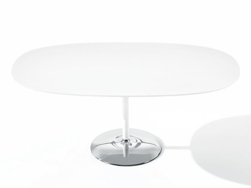 Design MDF table DUNA | Oval table by arper