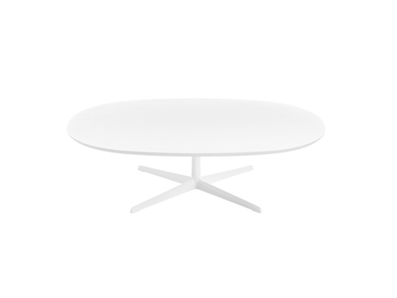 Low oval MDF coffee table EOLO | Coffee table by arper