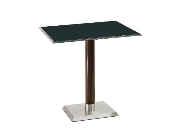 Square contract table LINEA by PEDRALI