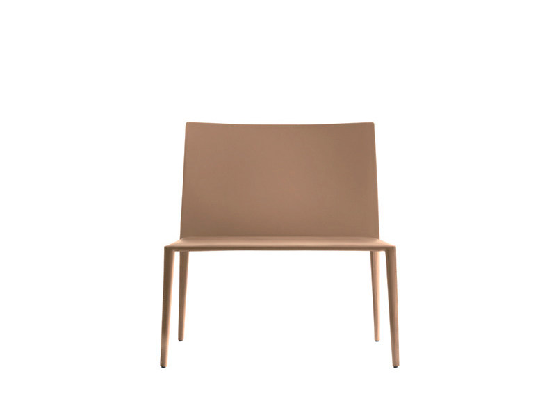 Tanned leather easy chair NORMA | Easy chair by arper