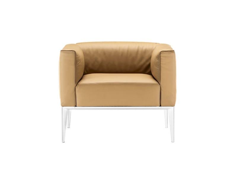 Upholstered armchair SEAN   Armchair by arper