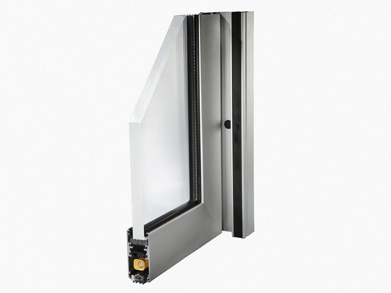 Aluminium thermal break window SLIDE 80 by ALsistem