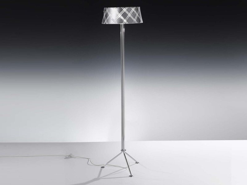 Silver leaf floor lamp CORALLO | Floor lamp by Metal Lux