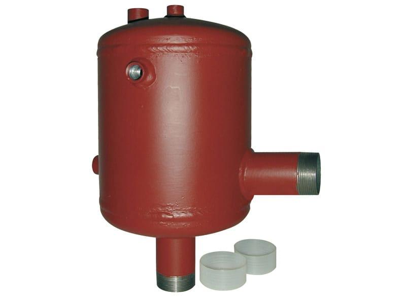 DIASEP Separatore d'aria per impianti di riscaldamento centralizzati, attacchi a squadra.