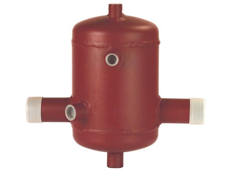 DIASEP Separatore d'aria per impianti di riscaldamento centralizzati, attacchi in linea.