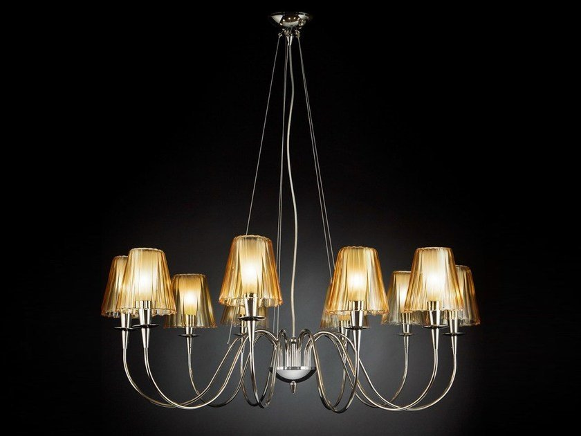 Stained glass chandelier OPERA | Chandelier by Metal Lux