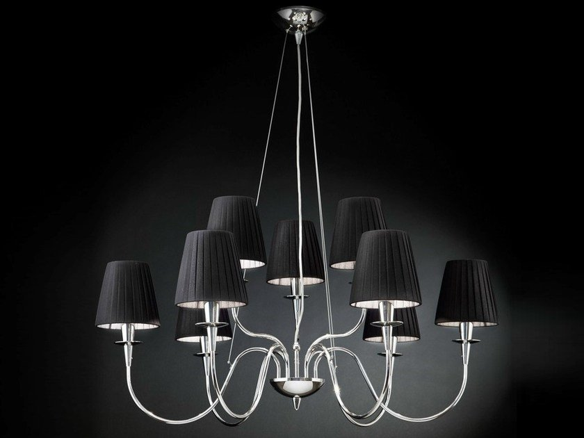 Cotton chandelier OPERA | Chandelier by Metal Lux