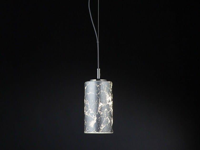 Silver leaf pendant lamp BRICK | Pendant lamp by Metal Lux