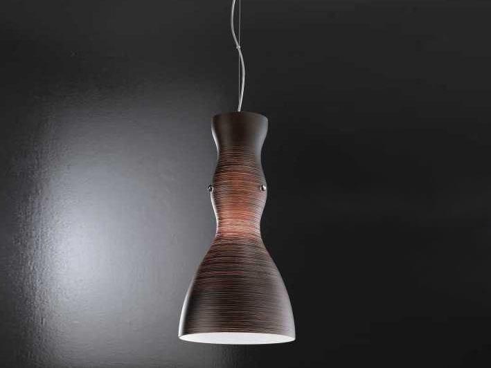Decorated glass pendant lamp SCHERZO | Pendant lamp by Metal Lux