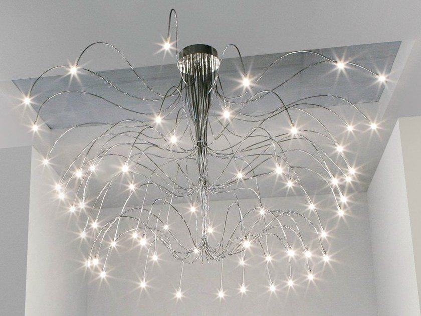 Chrome plated ceiling lamp with swing arm FREE SPIRIT | Ceiling lamp by Metal Lux