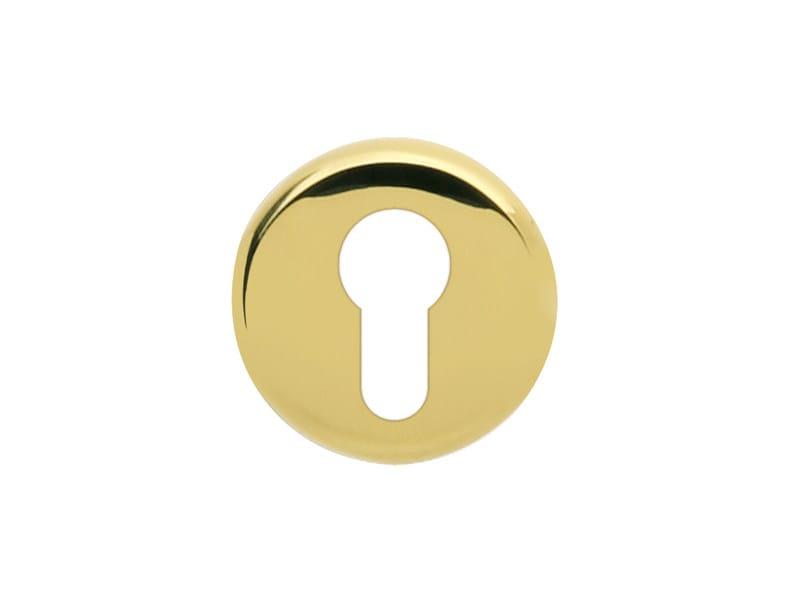 Round brass keyhole escutcheon Round keyhole escutcheon by i-DESIGN