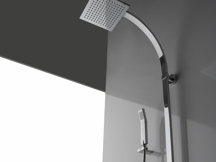 Shower panel with hand shower with overhead shower SOLAR   Shower panel by Graff Europe West