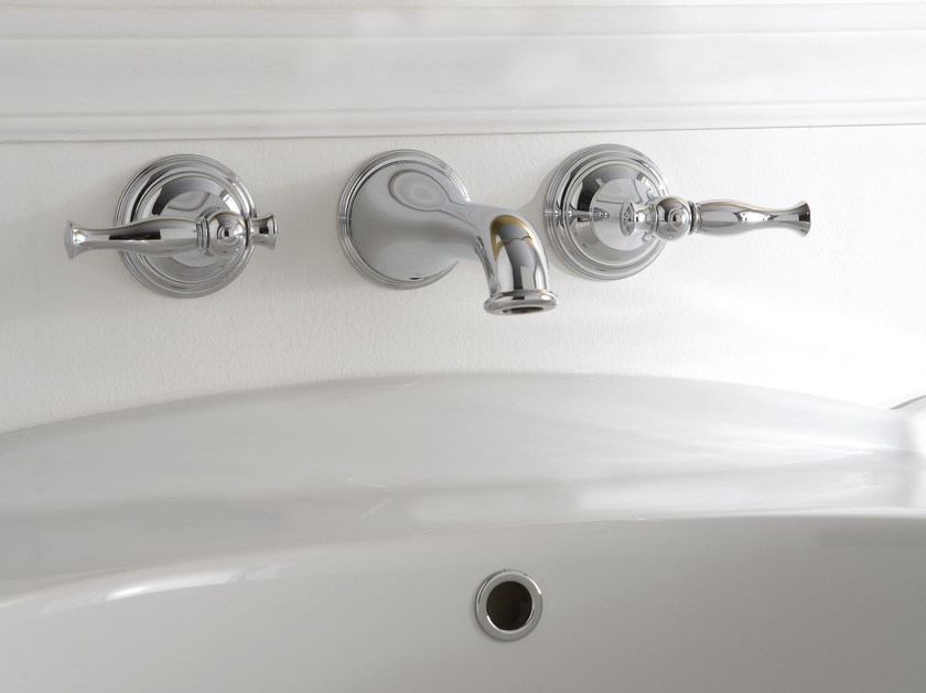 3 hole wall-mounted washbasin tap LAUREN | 3 hole washbasin tap by Graff Europe West