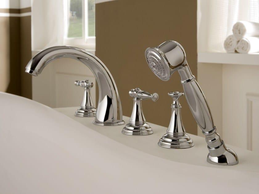4 hole bathtub set with hand shower LAUREN | 4 hole bathtub set by Graff Europe West