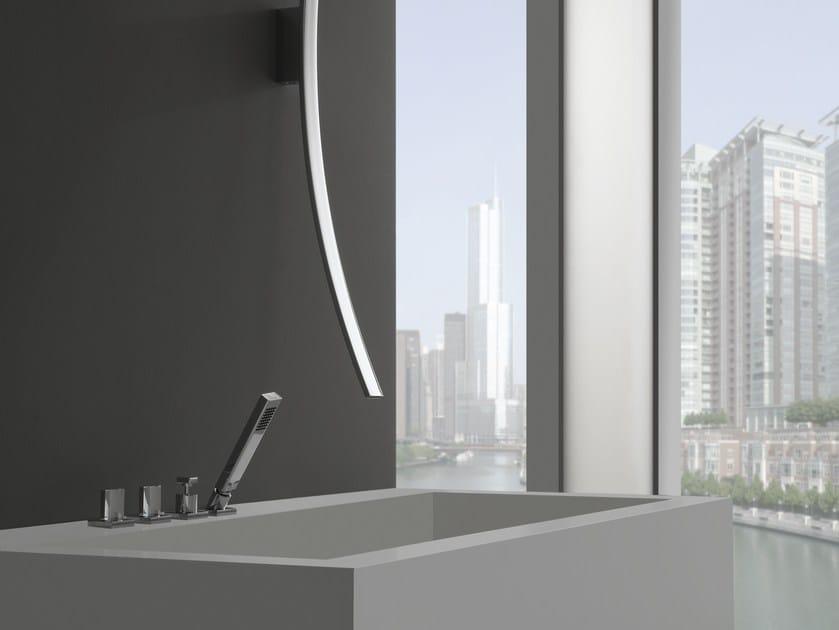 4 hole bathtub set with hand shower LUNA   Bathtub set by Graff Europe West