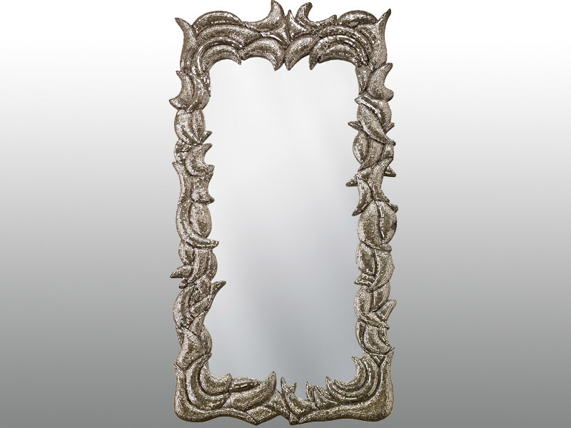 Framed rectangular mirror TERRA by Sicis