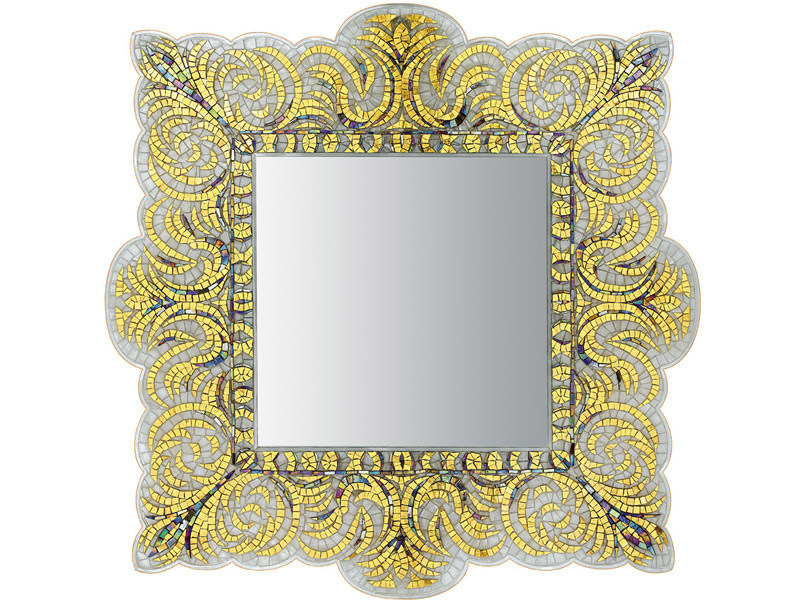 Framed square mirror VEREV GOLD by Sicis