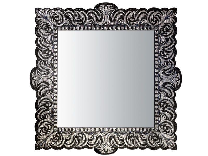 Espejo cuadrado con marco VEREV PLATINUM By Sicis