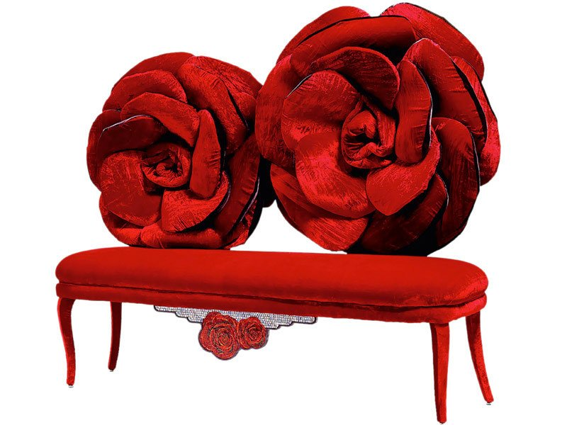 Velvet small sofa MOI ET LA ROSE by Sicis