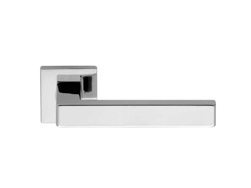 Brass door handle on rose BARLETTA by i-DESIGN