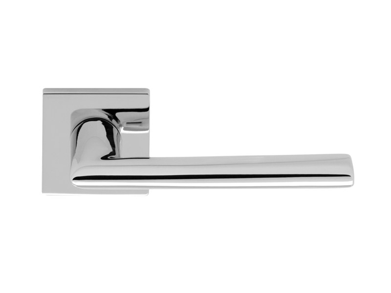 Brass door handle on rose BELLAGIO by i-DESIGN