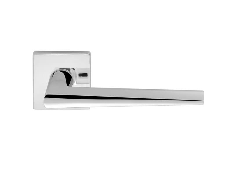 Brass door handle on rose CERVINIA by i-DESIGN