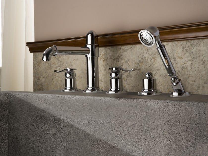 5 hole bathtub set with hand shower BALI | Bathtub set by Graff Europe West