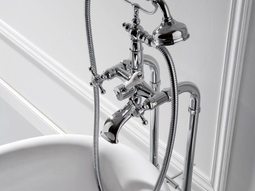 Floor standing bathtub tap with hand shower CANTERBURY | Bathtub tap by Graff Europe West