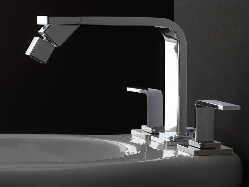3 hole countertop bidet tap IMMERSION | 3 hole bidet tap by Graff Europe West