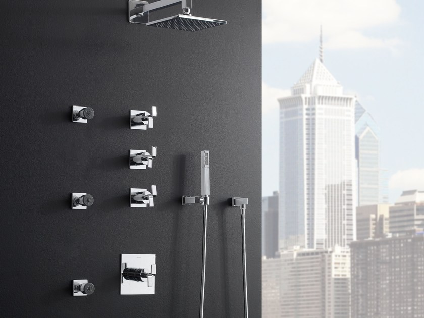 Shower tap with hand shower with overhead shower IMMERSION | Shower tap by Graff Europe West