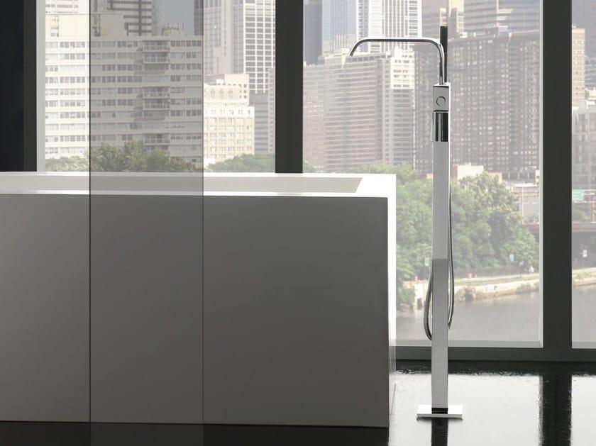 Floor standing bathtub mixer with hand shower IMMERSION | Bathtub mixer by Graff Europe West