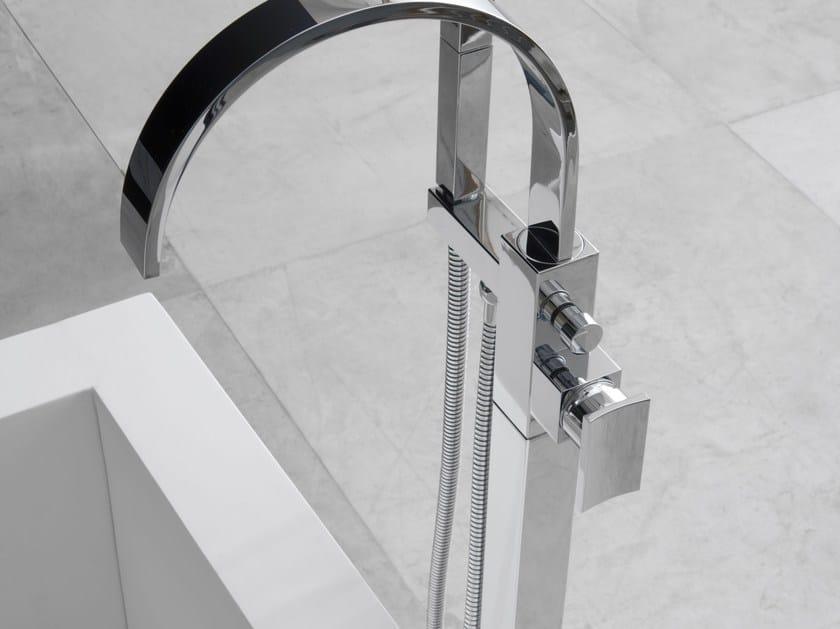 Floor standing bathtub mixer with hand shower SADE   Floor standing bathtub mixer by Graff Europe West