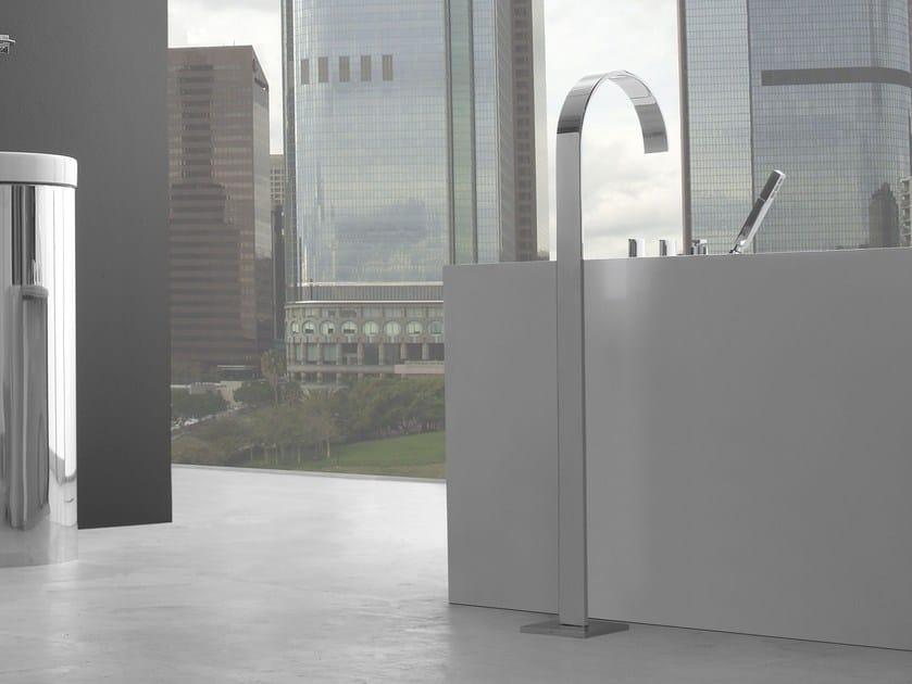 Floor standing bathtub set with hand shower SADE   Floor standing bathtub set by Graff Europe West