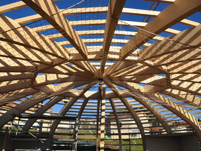 Laminated Wood Structures ~ Integrated structural system in timber laminated wood