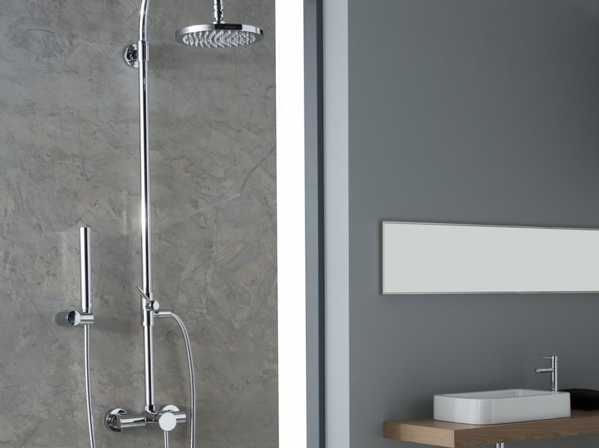 Shower panel with overhead shower M.E. | Shower panel by Graff Europe West