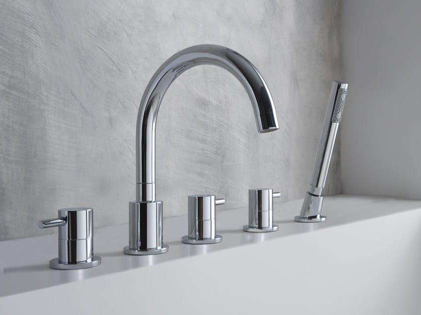 5 hole bathtub set with hand shower M.E. | Bathtub set by Graff Europe West