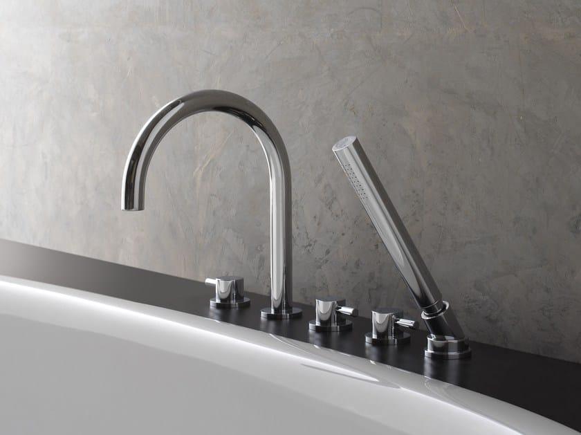 5 hole bathtub set with hand shower M.E. 25 | Bathtub set by Graff Europe West