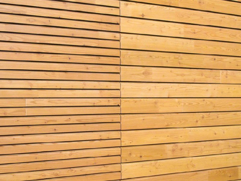 Wood panel for facade OPENLAM® by Simonin