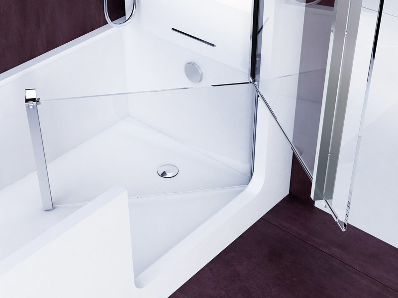 bathtub with shower with door elle combi by glass1989. Black Bedroom Furniture Sets. Home Design Ideas
