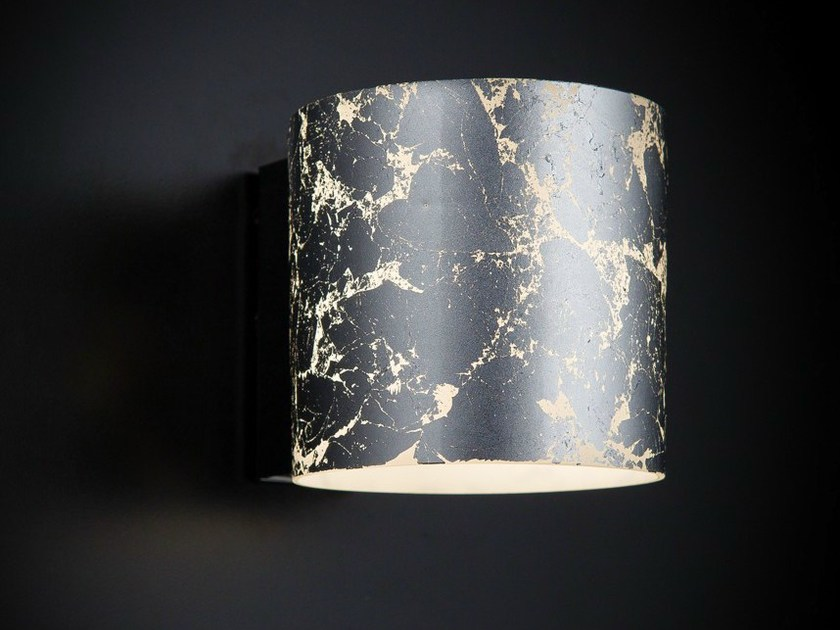 Silver leaf wall light BRICK | Wall light by Metal Lux