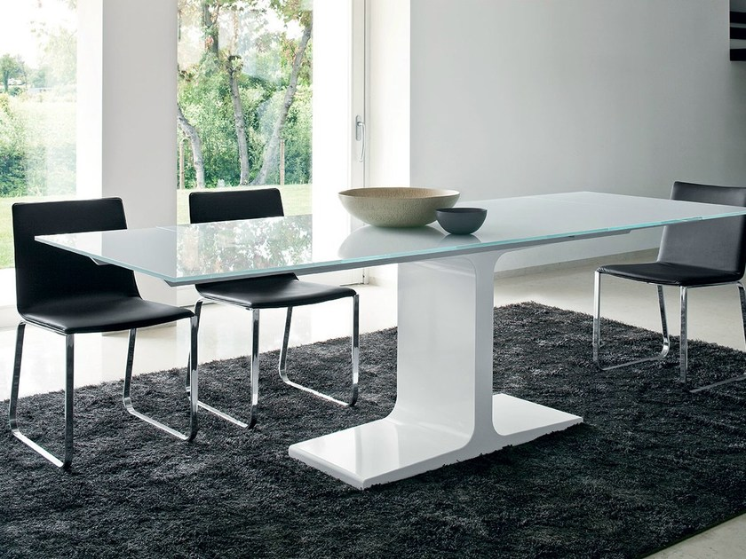 Extending rectangular glass table PALACE EXTENSIBLE by Sovet italia