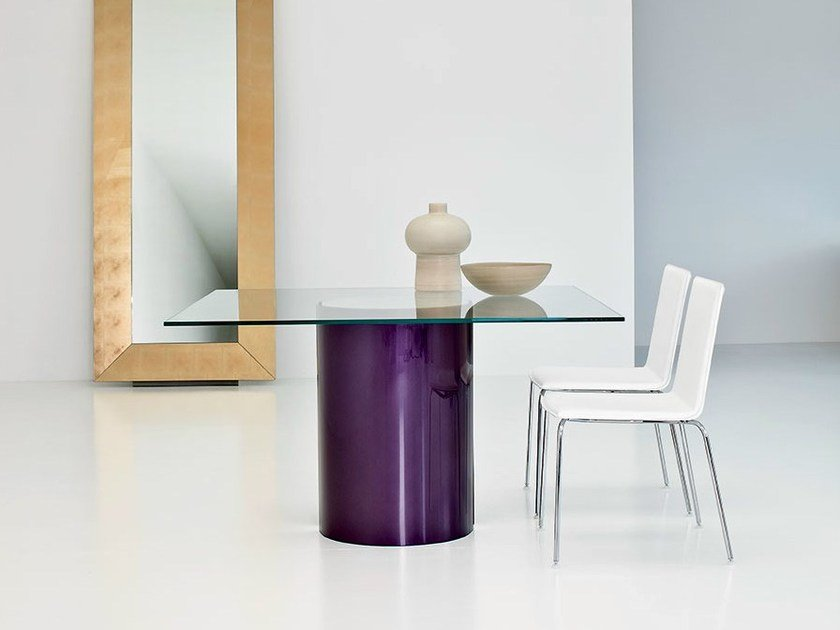 Square glass table PARTY | Square table by Sovet italia