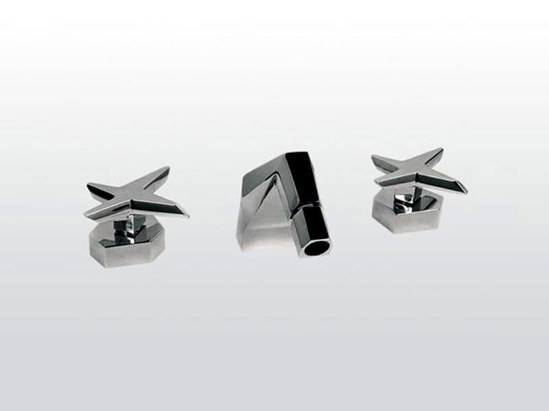 3 hole chrome-plated bidet tap STELLA   3601 by RUBINETTERIE STELLA