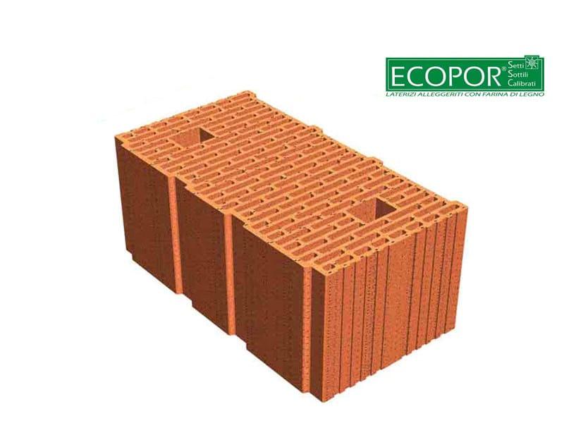 Thermal insulating clay block ECOPOR® by FORNACI DI MASSERANO