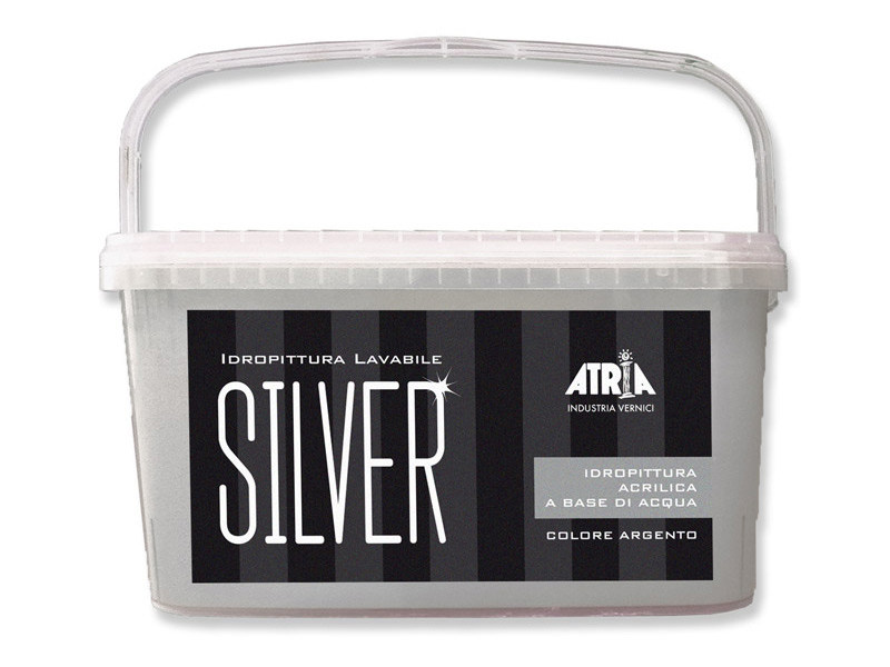 Washable water-based paint TINTE FORTI SILVER by COLORIFICIO ATRIA