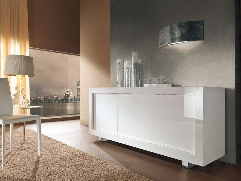 Wooden sideboard with doors PICASSO P1 by RIFLESSI