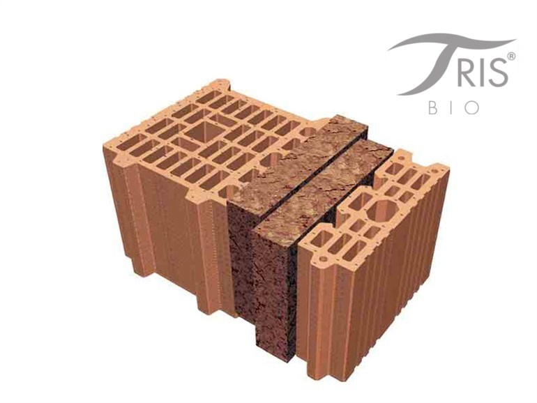 Thermal insulating clay block BIOTRIS® by FORNACI DI MASSERANO