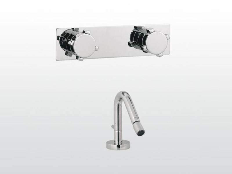 3 hole bidet tap with aerator ASTER | 3608PS-3609PS by RUBINETTERIE STELLA